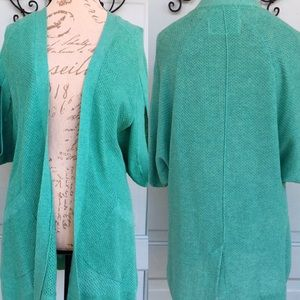 Anthropologie Angel of the North Green Cardigan